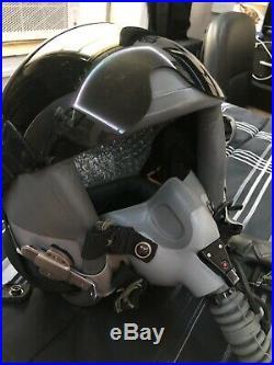 USAF Pilot's HGU-55/P Flight Helmet Large & MBU-12/P Oxygen Mask Medium