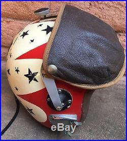 Usaf Thunderbirds Vintage Early Flight Helmet Aerobatic Flight Team N/r