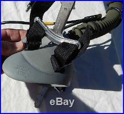 USAF USN USMC Jet Fighter & Attack Pilot's MBU-12/P Gray Gentex Oxygen Mask