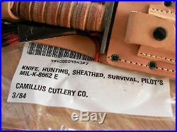USAF US Air Force ASEK Pilot's Survival Knife Camillus Cutlery Co. Vintage