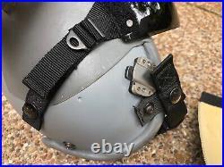 USAF US Air Force Gentex HGU-55/P Pilot Flight Helmet & Visor Cover 1982 Medium