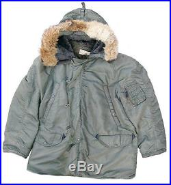 US Air Force Issued N-3B Aircrew Heavy Jacket Large Mfg. By Southern Athletic