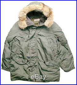 US Air Force Issued N-3B Aircrew Heavy Jacket Medium Mfg. By Southern Athletic