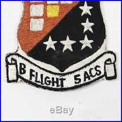 US Air Force USAF B Flight 5th ACS Patch Ace Novelty Tokyo Japan Label 1950s