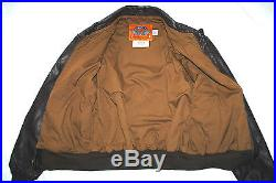 US Air Force USAF Flyers Men's Leather Bomber Type A-2 Jacket Size 40R