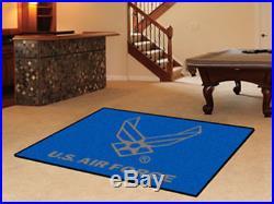 US Air Force USAF Medallion Seal Logo 5' X 8' Area Rug Military Carpet Wall Art