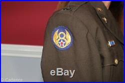 US WW2 British Made 8th Air Force Pilot's Ike Jacket Sterling Reseach 491st J47