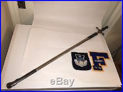 U. S. United States Air Force Academy Cadet Saber / Sword with Scabbard 1966
