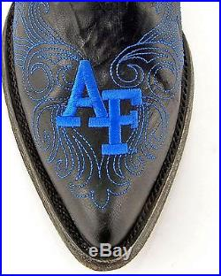 United States Air Force Academy Gameday Cowgirl Boot Pointed Toe Black 9.5 M