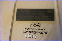 United States Air Force F-5a Trophy Award Desk Model L388