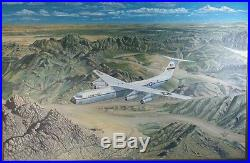 United States Air Force USAF Military Aircraft Canvas Oil Painting Large 30 x 21