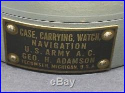 Unusual WW2 USAAF US Airforce Bomber Armoured Holder for Hamilton Model 23 Watch