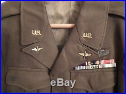 Us Ww2 /wwii Army Air Forces Usaaf Ike Jacket Lt Col Bullion 8th Air Force Patch