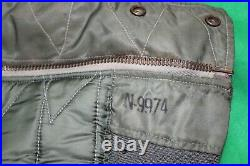 Usaf N-2b Flight Jacket Air Crew Medium Skyline Clothing Corp Dsa-1-6656