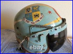 Usaf Pilot Flight Helmet P4 585th Tac Msl