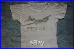 VINTAGE 1940s WW2 WWII TEXAS B17 Flying Fortress T-Shirt US Airforce Sportswear