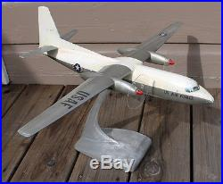 VINTAGE 1950s Fokker F-27 Friendship USAF Aluminum Metal Desk Model Airplane