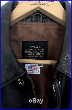 VINTAGE Avirex Leather Jacket Flight Bomber A-2 US Air Force GOATSKIN. No Reserve