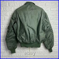 VINTAGE Military Jacket Mens XL Green USAF Pilot Flyers Summer