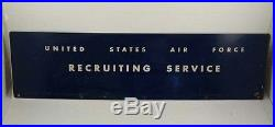 Vintage United States Air Force Recruiting Military Metal Sign