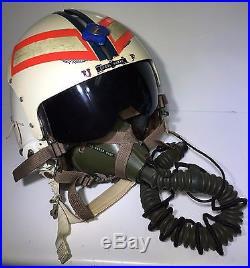 Vintage Usaf Flight Pilot Helmet United States Air Force