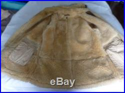 VINTAGE US ARMY AIR FORCE WWII SHEEPSKIN PARKA size 46R