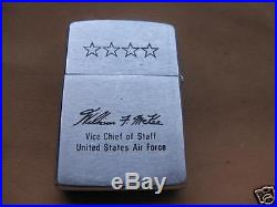 VINTAGE lighter rare, zippo brand, united states force air, vice chieff of staff