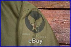 VTG 40s WW2 US ARMY AIR FORCE TYPE B-15A MODIFIED FLIGHT JACKET WWII USAAF SZ 38