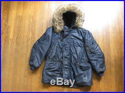 VTG 50s USAF US Air Force N-3A Blue Jacket Aircrew Heavy Reed Products Crown Zip
