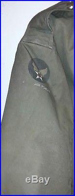VTG Air Force Winter Flying Jacket Fleece Lined Type B11 Bomber SZ 42
