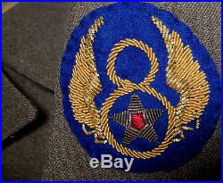 VTG USAAF WW2 IKE JACKET with 8TH AIR FORCE BULLION PATCH SERGEANT SIZE 40 R