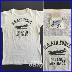VTG WWII 40'S U. S AIR FORCE ORLANDO AIR BASE WITH PAPER TAG T SHIRT SPORTSWEAR