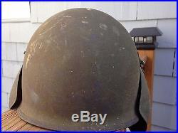 VTG WWII US ARMY AIR FORCE CORPS AAF MK3 FLAK FLIGHT STEEL HELMET B-17 BOMBER