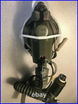 Very Nice Sierra Scott USAF MBU-5/P Pilot Oxygen Mask Size Regular wide