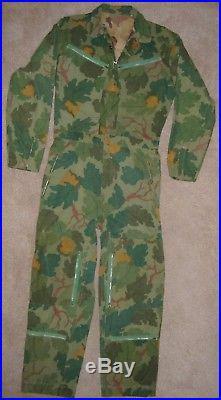 Vietnam Era Mitchell Camo Pilot Flight Suit In-country Made Usaf Usmc Usn