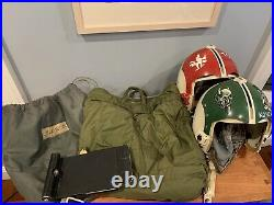 Vietnam USAF Painted HGU-2 F-4 Phantom Fighter Pilot Helmet Group