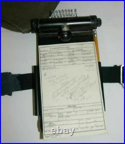 Vietnam USAF Pilot Lot Check List Knee Clipboard Flight Plan Card F-4 Phantom