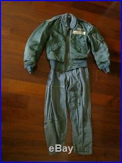 Vietnam War Era USAF Flight Jacket & Flight Overall Suit Matching Set