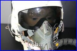 Vietnam War Era USAF HGU-2A/P Flight Helmet W O2 Oxy Mask Named Pilot Air Force