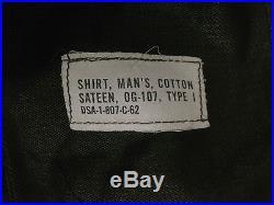 Vietnam War USAF OG-107 Cotton Shirt JACKET PATCH US Air Force Military Uniform