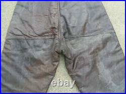 Vintage 1940s WW2 Era US Army Air Forces Shearling Flight Pants Trousers Mens