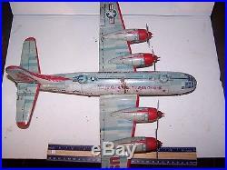 Vintage 1950's Yonezawa Japan-USAF BK250 SUPERFORTRESS AIRPLANE-Tin Litho