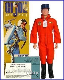 Vintage 1964 Original GI Joe Hasbro USAF Air Force Action Pilot Figure withBox NM