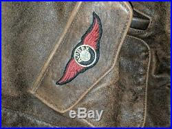 Vintage 1986 Avirex Type A-2 US Airforce Leather Jacket Size L with patches