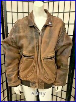 Vintage 1987 Avirex Type G-2 US Air force Pilot Leather Jacket Size M withpatches