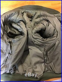 Vintage 50'-60's USAF ROLEN Sportswear MA-1 flight/flying jacket Air Force LARGE
