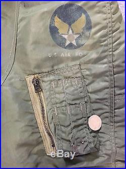 Vintage 60's Vietnam USAF Air Force N-3B Coyote Fur Hood Flight Jacket Parka XL