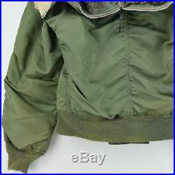 Vintage 70s USAF Alpha Industries N-2B Parka Hooded Bomber Flight Jacket S