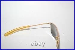 Vintage American Optical AO 1/10 12K GF 5 1/2 Gold Aviator Sunglasses/Frame USAF