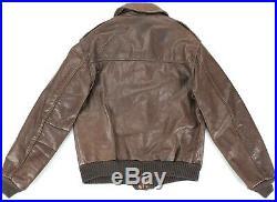 Vintage Avirex Flight Bomber Type A-2 USAF Brown Leather Jacket Mens Size 38